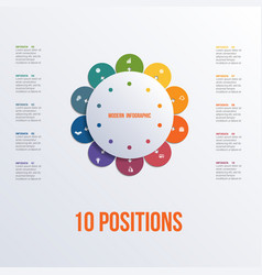 template flower colorful infographics 10 positions vector image