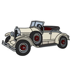 the vintage cream roadster vector image