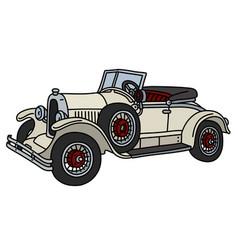 The vintage cream roadster vector