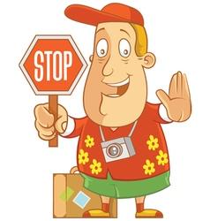tourist stop vector image