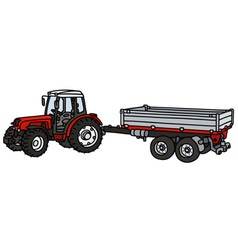 Tractor with a trailer vector