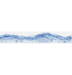 transparent seamless water wave with bubbles vector image