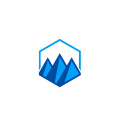 triangle abstract mountain logo vector image