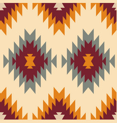 Tribal southwestern native navajo seamless pattern vector