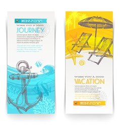 Vacation and travel vertical banners vector