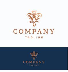 w company logo vector image