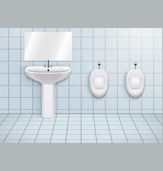 Wc restroom with washbasins and urinals vector