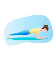 woman exercising standing in a plank position vector image