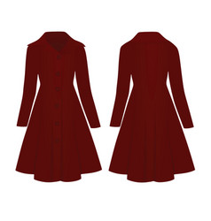 Woman red coat vector