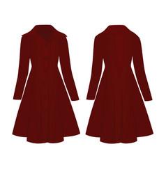 woman red coat vector image