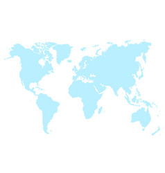 blue map of world isolated vector image