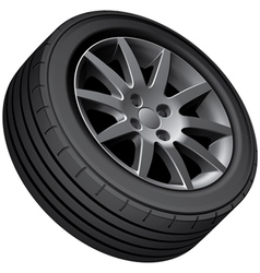 Cars wheel vector image vector image