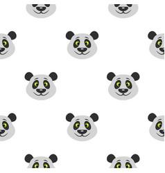 Head of panda bear pattern seamless vector