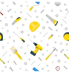 Home Repair and Renovation Tools Seamless Pattern vector image