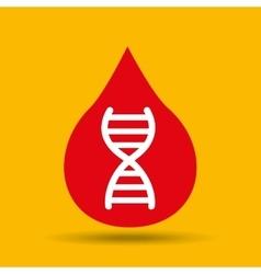 Protection medicine dna science icon vector