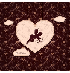 valentines angel background vector image vector image