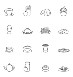 Breakfast icon outline vector image vector image