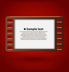 film frame 35mm vector image