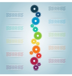 Infographic Cog Steps 1 vector image vector image