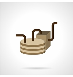 Oil delivery element flat icon vector image