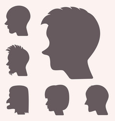 profiles or cameo silhouettes vector image vector image