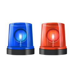 realistic detailed 3d police beacon vector image vector image