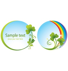 trefoil at patrick day vector image