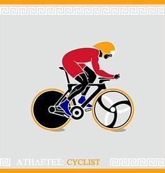 Athlete cyclist vector image vector image