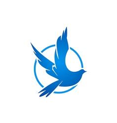bird fly icon logo vector image