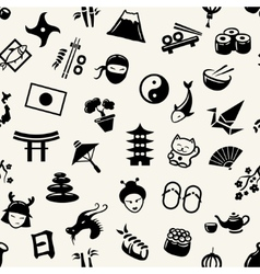 graphical flat design Japanese pattern vector image