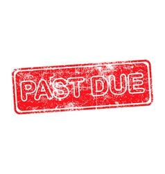 pass due red grunge rubber stamp vector image