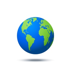 planet icon Web background Isolated earth globe vector image