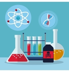 set laboratory research science vector image