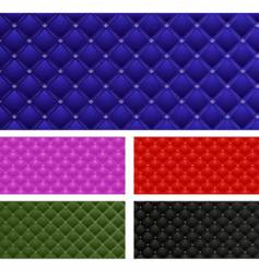 set of leather banners vector image vector image