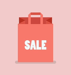 Shopping Bag in flat style vector image vector image