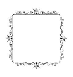 stylish elegant vintage frame with monograms vector image vector image