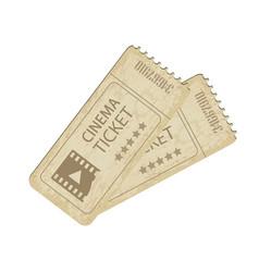 two vintage cinema tickets vector image vector image
