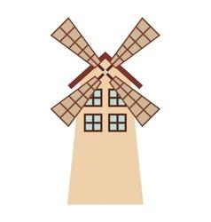 windmill farm isolated icon design vector image