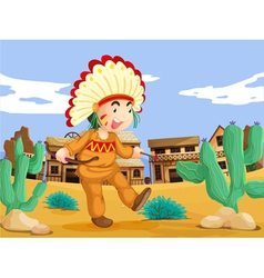 American Indian vector image vector image