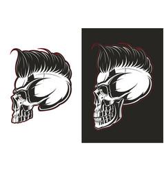 barber skull profile vector image