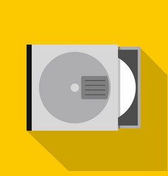cd or dvd case icon flat style vector image