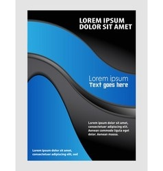 Stylish presentation of business poster Flyer vector image vector image