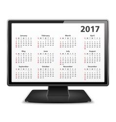 2017 Calendar in Computer vector