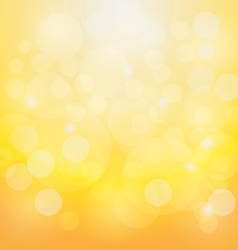 Abstract Bokeh background orange and yellow vector image