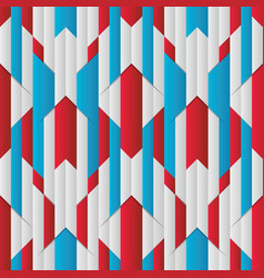 abstract stripe seamless pattern with red blue vector image