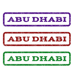 Abu dhabi watermark stamp vector