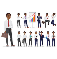 African american businessman character different vector