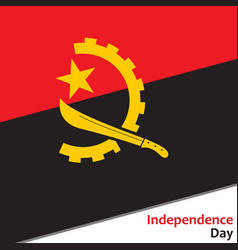Angola independence day vector