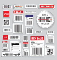 Barcode Packaging business Labels vector