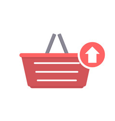 Basket buy output shop shopping icon vector